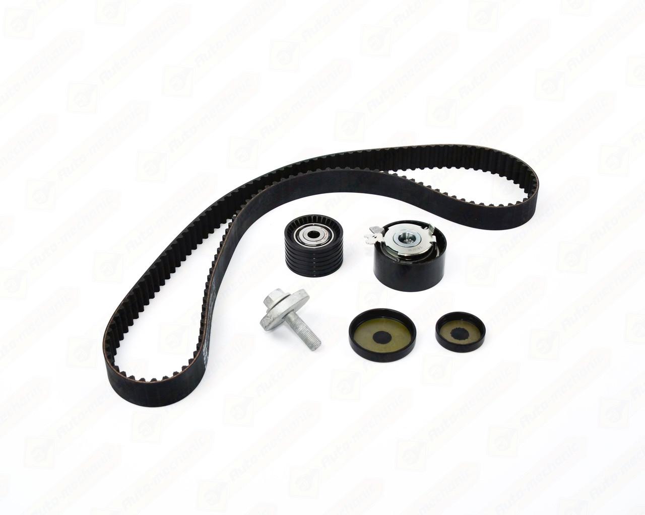 Комплект натягувач + ролик + ремінь ГРМ на Renault Laguna III 1.6 16V — SNR - KD455.57