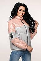 Демісезонна молодіжна курточка з плащовки лак, фото 1