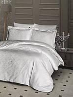 Комплект постельного белья First Choice Jacquard Lamone Krem сатин семейный кремовый