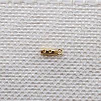 Концевики (зажимы), позолота 16 карат