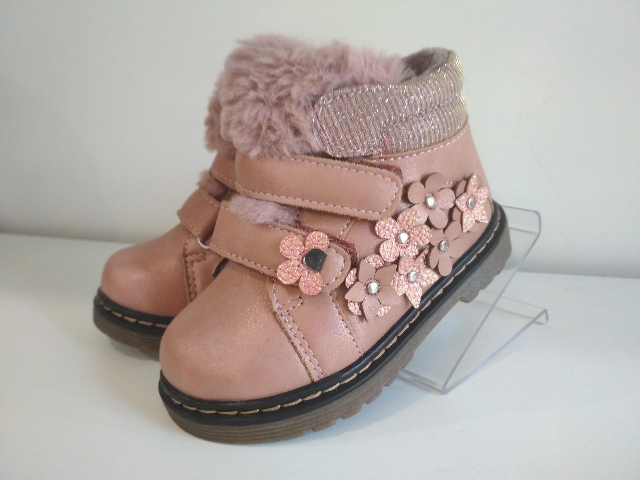 Ботинки демисезонные для девочки Розовые Bi&Ki