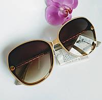 Стильные солнцезащитные женские очки бежевые градиентные (0688)