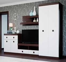 Гостиная Соната 3 венге + белый (270х50х205 см)