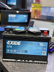 Автомобильный аккумулятор EXIDE EFB EL700  70Ah R+
