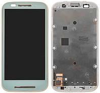 Дисплей Motorola XT1021 Moto E / XT1022 / XT1023 / XT1025 с сенсором и передней панелью, белый