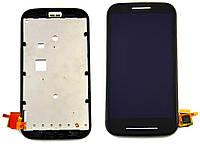 Дисплей Motorola XT1021 Moto E / XT1022 / XT1023 / XT1025 с сенсором и передней панелью, черный