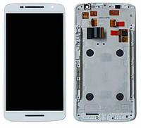 Дисплей Motorola XT1561 Moto X Play / XT1562 / XT1563 / XT1564 с сенсором и передней панелью, белый