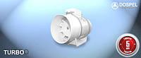 Вентилятор канальный DOSPEL TURBO 100 мм LS-низкие обороты.