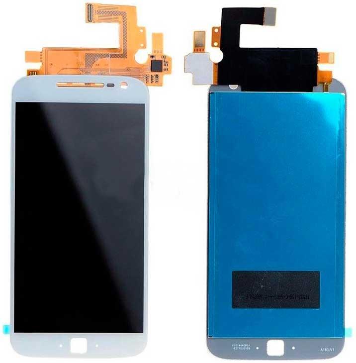 Дисплей Motorola XT1640 Moto G4 Plus / XT1641 / XT1642 / XT1643 / XT1644 с сенсором, белый