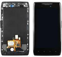 Дисплей Motorola XT910 Droid RAZR / XT912 Maxx Razr с сенсором и передней панелью, черный