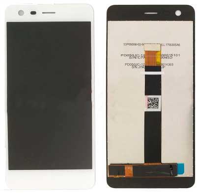 Дисплей Nokia 2 Dual Sim (TA-1029 / TA-1035 / TA-1007) с сенсором, белый
