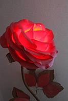 """Цвет вишня+шоколад! Эксклюзивный светильник-ночник ручной работы """"Роза"""", из изолона, можно мыть"""