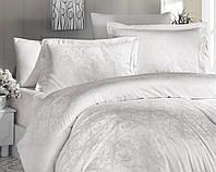 Комплект постельного белья First Choice Jacquard Sofya Krem сатин семейный кремовый