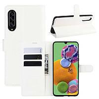 Чохол-книжка Litchie Wallet для Samsung Galaxy A90 5G White