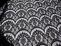 Ткань Гипюр ресничка (черный)