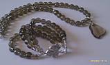 Комплект из раухтопаза : бусы, браслет, фото 3