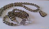 Комплект из раухтопаза : бусы, браслет, фото 4