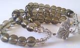 Комплект из раухтопаза : бусы, браслет, фото 5