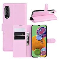 Чохол-книжка Litchie Wallet для Samsung Galaxy A90 5G Pink