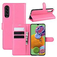 Чохол-книжка Litchie Wallet для Samsung Galaxy A90 5G Rose