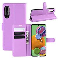 Чохол-книжка Litchie Wallet для Samsung Galaxy A90 5G Violet
