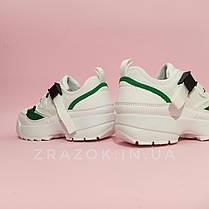 36. 38. 39.  Кроссовки белые на толстой подошве в стиле fila disruptor фила на ремешках без шнурков, фото 3
