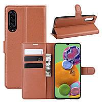 Чохол-книжка Litchie Wallet для Samsung Galaxy A90 5G Brown