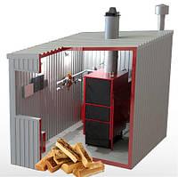 Блочно-транспортабельная котельная 800 кВт (0.8МВт) дрова/уголь КУМ-ТТ800