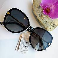 Стильные солнцезащитные женские очки черные (06881), фото 1