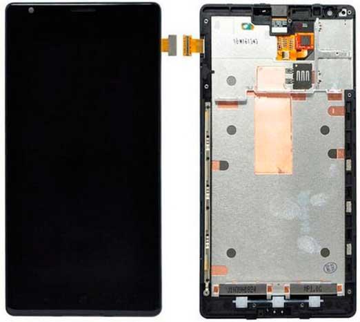 Дисплей Nokia Lumia 1520 (RM-938) с сенсором и передней панелью, черный