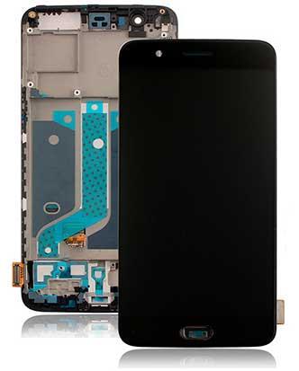 Дисплей OnePlus 5 с сенсором и передней панелью, черный (Amoled)