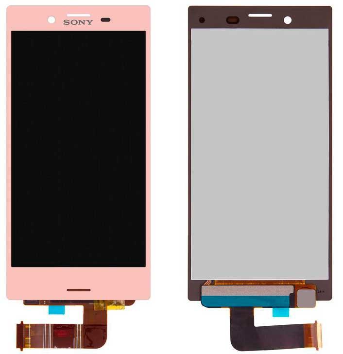 Дисплей Sony F5321 Xperia X Compact с сенсором, розовый