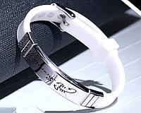 Силиконовый браслет Primo Zodiac - Scorpio (Скорпион) - White