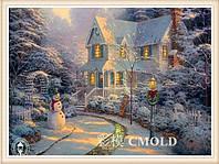 """Набор для рисования камнями """"Рождественский дом"""" по мотивам Т. Кинкейда"""