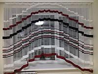 Модная короткая гардина в полоску аркой 5 метров