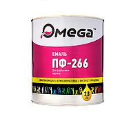 Эмаль алкидная OMEGA ПФ-266 для пола, RAL8012-красно-коричневая, 2,8кг