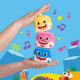 WowWee Pinkfong Мягкая игрушка акула куб желтая 61011 Baby Shark Official Song Cube Baby Shark, фото 6