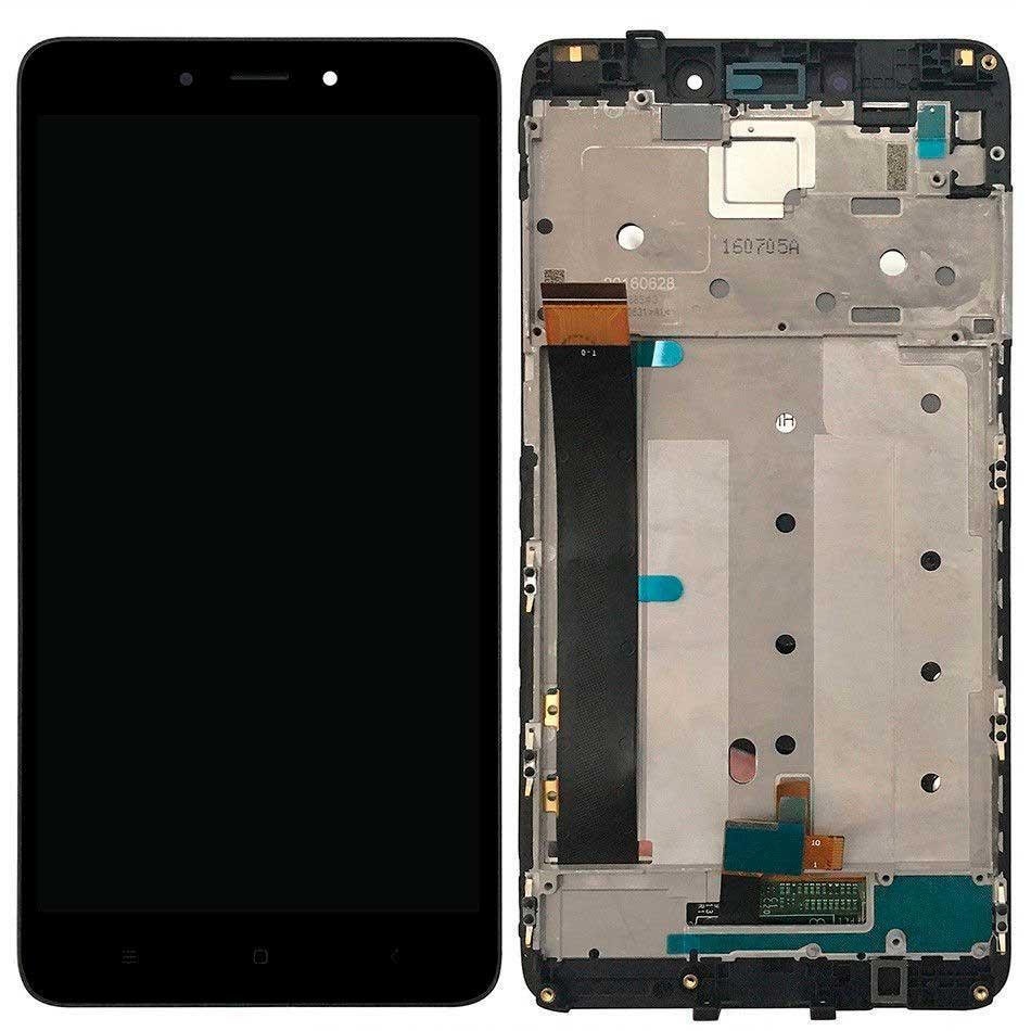 Дисплей Xiaomi Redmi Note 4 MediaTek с сенсором и передней панелью, черный