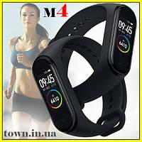 Умный фитнес браслет Xiaomi Mi Band 4.Smart Watch M4 (смарт часы).Трекер для фитнеса черный (реплика)