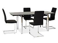 Стеклянный стол раскладной Signal GD-020 Black