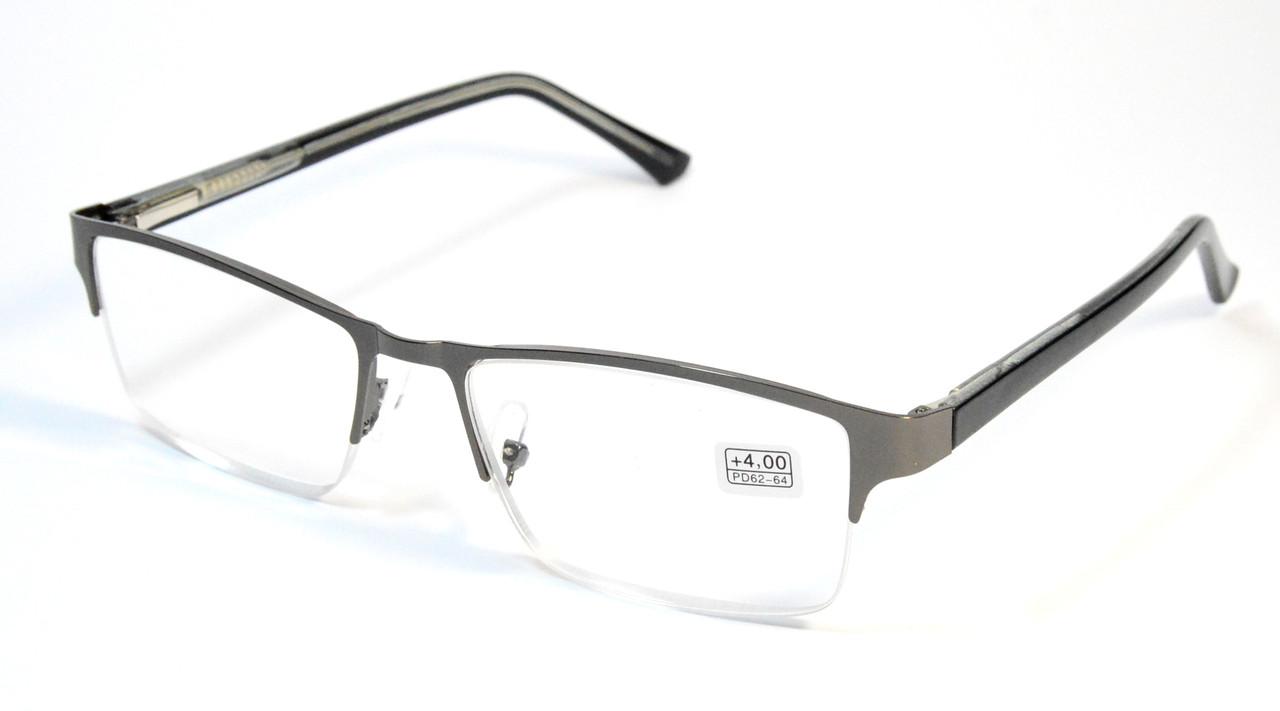Полуоправыные очки в металле (МС 354/356 сер)