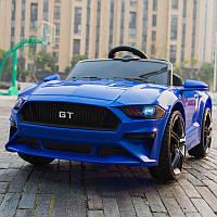 Детский электромобиль M 3632 EBLR-4, FORD MUSTANG GT Sport,колеса EVA, Кожаное сиденье, синий