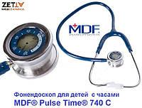 Фонендоскоп с часами детский педиатрический MDF® Pulse Time® 740 С синий