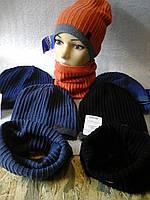 Весенняя  шапочка для мальчика с хомутом