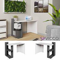 Vicco компьютерный стол Theo, стол для ПК, 121x84, цвет белый, антрацит