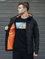 Куртка мужская фирменая Staff soft shell Solar black