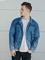 Мужская джинсовая куртка Staff  blue fire