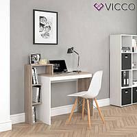 Vicco компьютерный стол Leo, рабочий стол, 110x91, цвет белый сонома