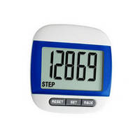 Портативный LCD шагомер 7 в 1: часы, шагомер, счётчик калорий, спорт время, дистанциометр, память, функция сна