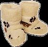 Домашние тапочки из овчины Sheepskin Орнамент Размер 35-36, фото 2